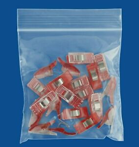 9000 Pcs 4 X 4 Jewelry Bags Reclosable 2 Mil Clear Poly Baggies