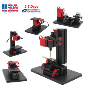 Mini 6in1 Wood Metal Motorized Lathe Jig saw Machine Woodworking Hobby Diy Tool