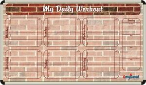 My Daily Workout List Writing Board By Omygawd