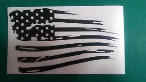American Flag Distressed Hood Decal Large 36 Jeep Graphics Ford Chevy Dodge V7
