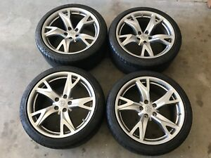Set Of 4 19 Nissan 370z Rays Engineering Forged Factory Oem Wheels Rims Tires