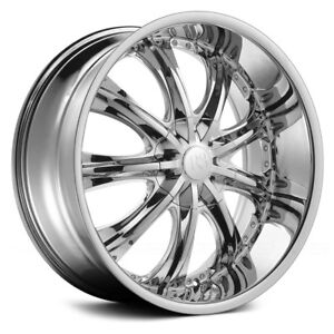 24 Inch Red Sport Rsw 33 Chrome Wheels Tires Package Set Of 4