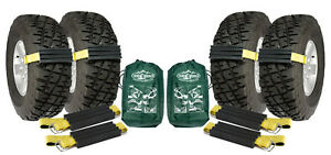 4 Pk Large Trac Grabber Truck Suv Unstuck Emergency Traction Mud Snow Tire Chain