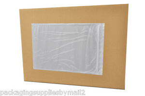 7 X 10 Clear Packing List Slip Holders Envelopes Plain Face 36000 Pouches
