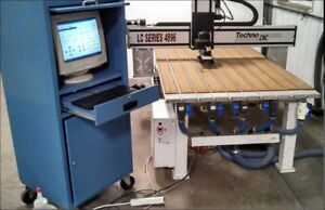 Techno Model 4896 Lc Series Cnc Router with Heian vacuum Pump