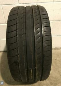 1x P255 35r18 Michelin Pilot Sport Zp 8 32nds Used Tire