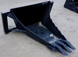 Mtl Long Bottom Hd Quick Attach Skid Steer Stump Root Tooth Bucket