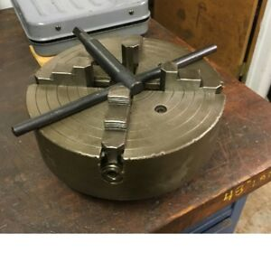 South Bend Independent 4 Jaw Chuck 10 Dia Hard Reversible Jaws 2 3 8 6 Thread