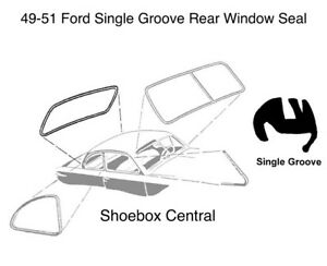 New 1949 1950 1951 Ford Car Single Groove Rear Window Rubber Weatherstripping