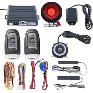 Pke Push Start Button Keyless Entry Start Stop Engine Car Alarm System Dc 12v