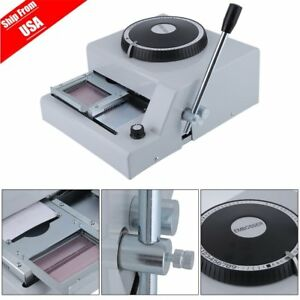 72 character Manual Stamping Machine Pvc id credit Card Code Printer Embosser Fa