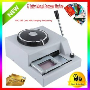 72 Character Letter Manual Embosser Pvc Stamping Card Embossing Machine Fa