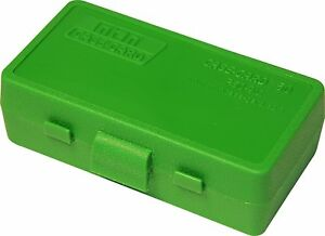 NEW MTM 50 Round Flip-Top 3809MM Cal Ammo Box - Green