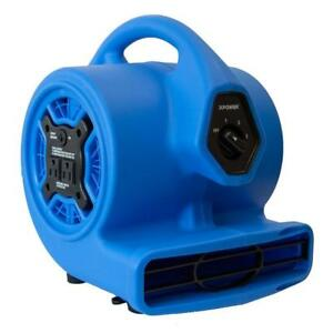 Xpower P 100a Mini Air Mover Carpet Dryer Blower Fan With Power Outlets