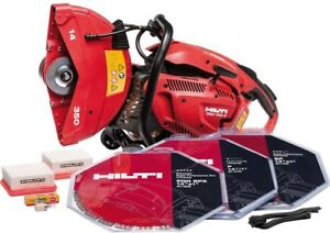 Hilti Dsh 700x 70cc 14 In Hand Held Gas Saw With Blades