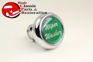 Deluxe Wiper Washer Inside Cab Dash Knob Truck Rat Rod Custom Rig Glossy Green