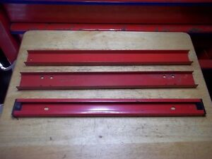 Vtg Snap On Tools Kr 402a Red Top Bottom Mid Tool Chest Box Cabinet Side Handle
