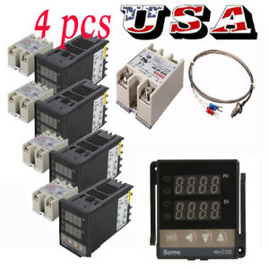4pcs Rex c100 Digital Pid Temperature Controller Regulator K Thermocouple 40a Us
