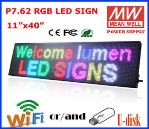 11 X 40 Rgb Led Sign Programmable Scrolling Indoor Message Display P7 62