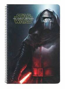 Star Wars Vii Block Notepad Spiral Notebook Writing