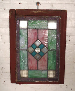 Vintage Antique Stained Glass Door 00430 Ns