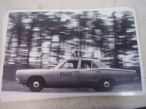 1969 Dodge Coronet Police Car 11 X 17 Photo Picture
