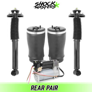 E53 Rear Air Suspension Air Springs Shocks And Compressor Kit For 00 06 Bmw X5