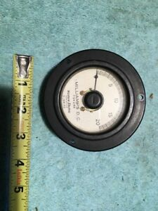 Western Electric Dc Milliamps 0 20 Vintage Panel Meter Me220