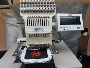 Happy Voyager Hcs 1201 30 12 Needle Color Screen Industrial Embroidery Machine