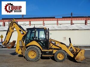2014 Caterpillar 430f 4x4 Backhoe Loader Enclosed Cab Extendahoe