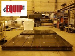 T slotted Floor Plate 16ft X 10ft X 12 In Levelers Boring Mill Plate 2