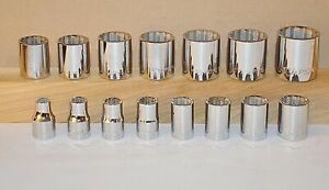 Armstrong Usa 15 Pc 1 2 Inch Drive 12 Pt Sae Socket Set 3 8 To 1 1 4 Inch New