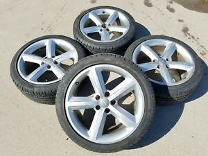2009 2016 Audi A5 S5 A4 S4 B8 B8 5 18 Inch Alloy Rims Wheels Tires Set Oem