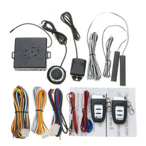 Car Alarm System Rfid Immobilizer Keyless Entry Engine Start Remote Window Rise