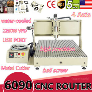 Usb 4axis 6090 2200w Cnc Router Engraver Engraving Mill Metal Cutter tool Sensor