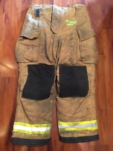 Firefighter Turnout Bunker Pants Globe 36x32 G Extreme Harness Ready 2010