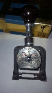 Old Bates Numbering Machine