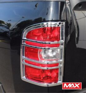 Tlch180 2012 Chevrolet Silverado 1500 2500 3500 Taillight Chrome Trim Covers