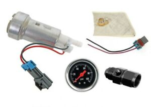 Walbro F9000267 450lph E85 Fuel Pump Gauge 6an Fitting For Honda Delsol B16