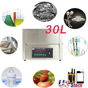 30l Professional Digital Ultrasonic Cleaner Machine With Timer Heated Cleaning