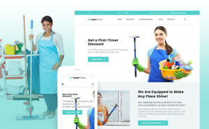 Cleaning Services Portfolio Responsive Website Templates Free Installation