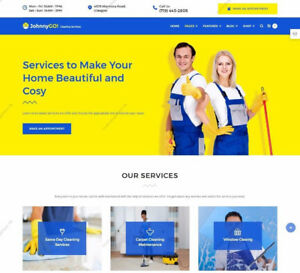 Carpet Window Office Cleaning Services Website Responsive Wordpress Templates