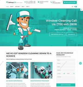 Build A Professional Windows Cleaning Services Web Responsive Wordpress Template