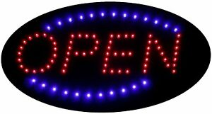 Flashingboards Led Neon Light Open Sign Animated Oval Open Sign 19 x10