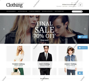 Apparel Responsive Magento Theme Complete Clothing Shop E commerce Website