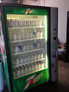 7 Up Dixie Narco 5800 Glass Front Soda Vending Machine With Robotic Arm Usa Made