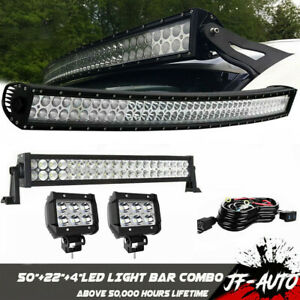 For Jeep Wrangler Tj 50 Led Light Bar 20 Led Light Bar With 4 Led Lights