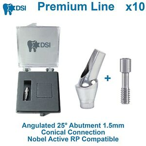10 Dsi Dental Implant Angulated 25 Anatomic Abutment Conical Nobel Active Rp1 5