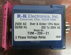 Rk Electronics Spdt 8 Pin Relay 250v 3 Phase 10 Amp Tvm 200 21