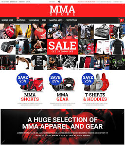 Create Mma Clothes And Gear Shopping Store Martial Arts Responsive Websites